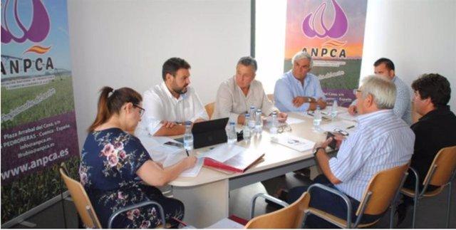 Asamblea de la Asociación Nacional de Productores y Comercializadores de Ajos (ANPCA) en Las Pedroñeras (Cuenca).