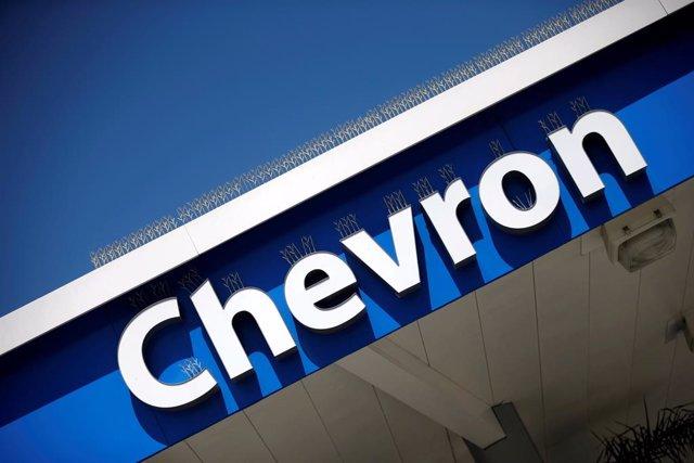Logotipo de la empresa estadounidense Chevron