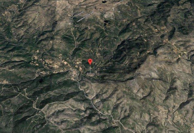 Localización de Andilla (Valencia)