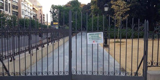 El Ayuntamiento de Murcia cierra el Jardín de Floridablanca por altas temperaturas