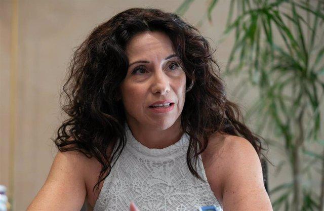 La consejera de Igualdad, Rocío Ruiz, durante la entrevista con Europa Press.