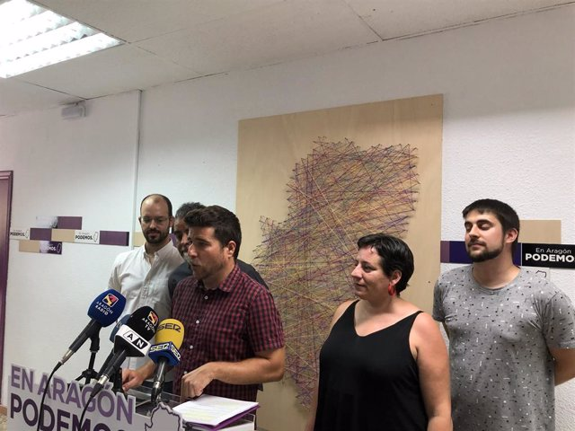 Podemos ha presentado hoy el preacuerdo de gobierno alcanzado con el PSOE que recoge 132 medidas para Aragón.
