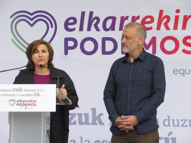 Pilar Garrido y Roberto Uriarte (Elkarrekin Podemos)