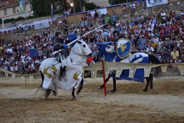Torneo medieval en La Alvarada de Cañete (Cuenca).