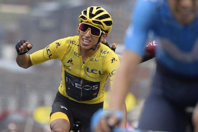 El ciclista colombiano Egan Bernal