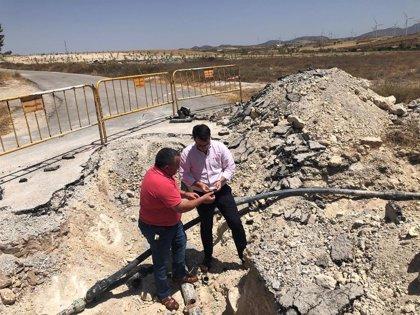 Diputación de Almería ayudará a Alcóntar a sustituir las tuberías que garantizan el agua en Hijate