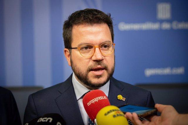 Pere Aragonès. Foto d'arxiu