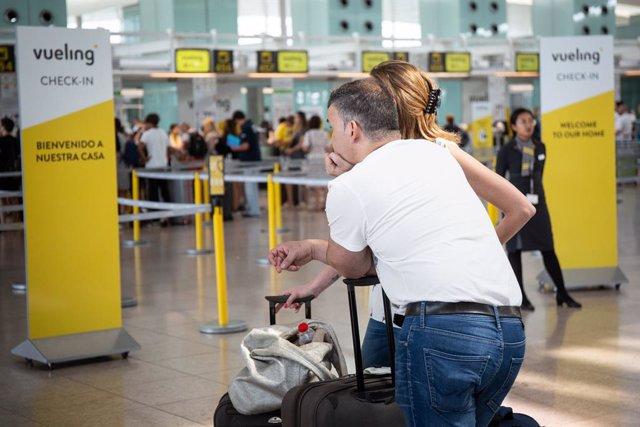 Imatges dels afectats per la vaga del personal de terra d'Iberia a Barcelona (Aeroport Josep Tarradellas Barcelona-El Prat).