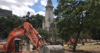 Los primeros desvíos de tráfico por las obras de Plaza de España están previstos para el 5 de agosto
