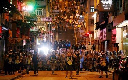 Las protestas de este domingo en Hong Kong, en imágenes