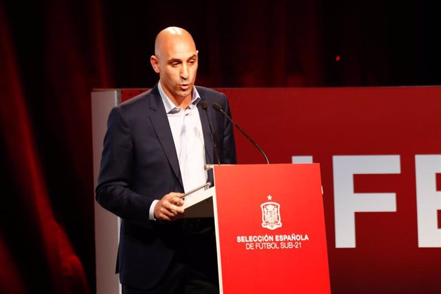 El presidente la Real Federación Española de Fútbol (RFEF), Luis Rubiales.