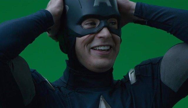 Imagen de Chris Evans como el Capitán América en las tomas falsas de Vengadores: Endgame
