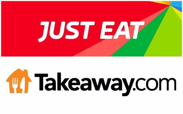 Logos de Just Eat y Takeaway.com