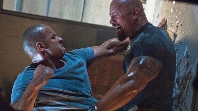 Vin Diesel y Dwayne Johnson en la saga Fast and Furious
