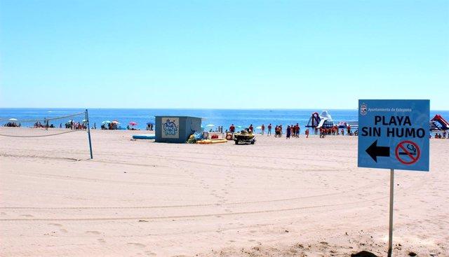 Playa Sin Humo en Estepona (Málaga)