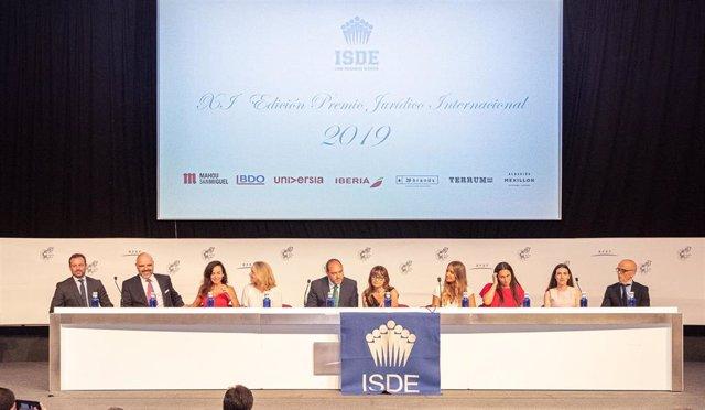Entrega de los premios jurídicos internacionales de ISDE en la Ciudad del Fútbol de la RFEF