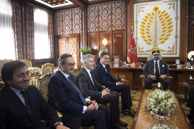 El presidente del Gobierno Pedro Sánchez se reúne con el Rey de Marruecos Mohamed VI