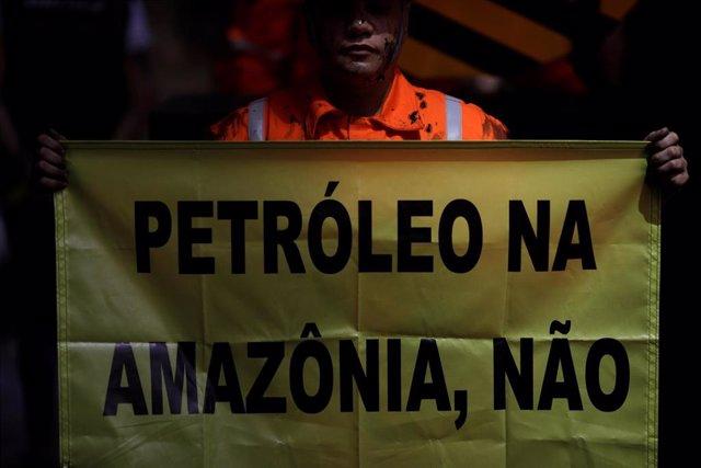 Activista ecologista en Rio de Janeiro