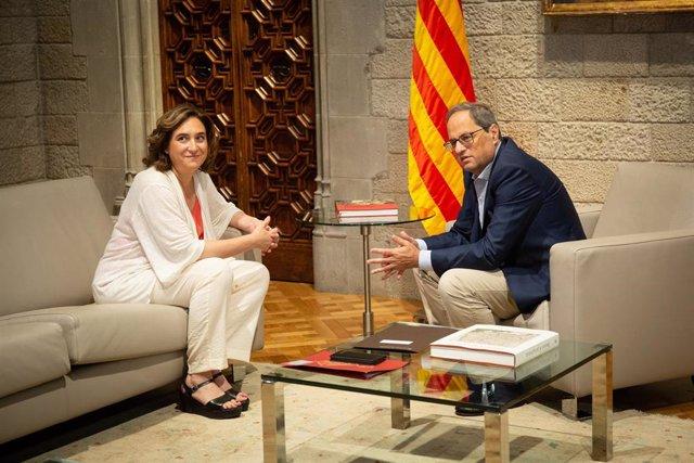 Reunió Del President Quim Torra I L'Alcaldessa Ada Colau