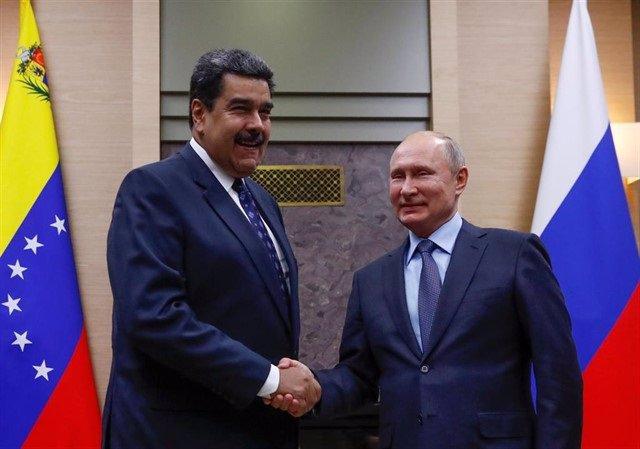 Los presidentes de Venezuela, Nicolás Maduro, y Rusia, Vladimir Putin (Imagen de archivo)