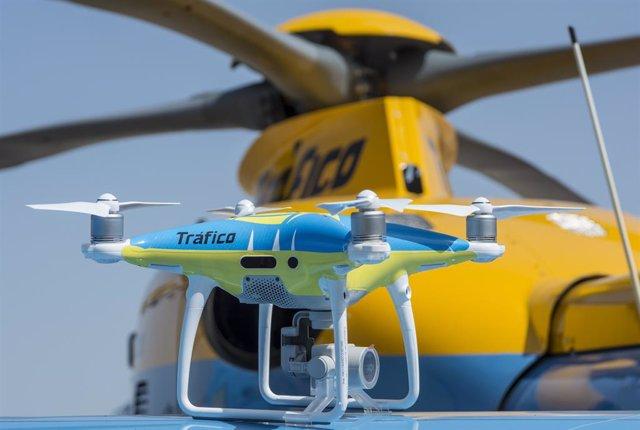 Uno de los drones que vigilará a modo de pruebas las carreteras este puente de mayo de 2018