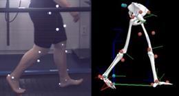 Análisis biomecánico en 3 dimensiones de uno de los participantes en el estudio
