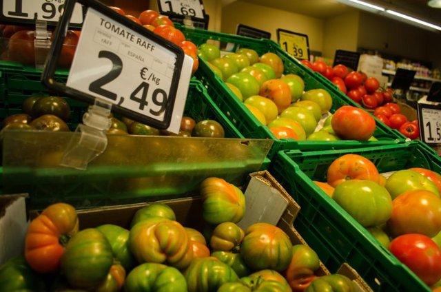 Consumo, precio, precios, IPC, supermercado, alimentos, compras, comprar, comprando, frutas, frutería, verduras