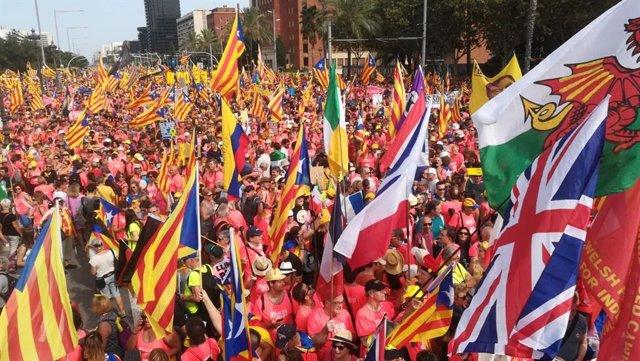 Manifestació de la Diada 2018 a Barcelona