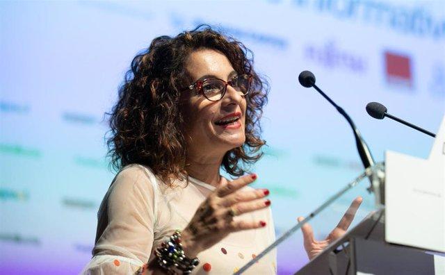María Jesús Montero, en los Desayunos de Europa Press Andalucía