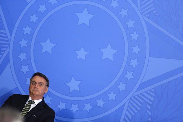 El presidente de Brasil, Jair Bolsonaro, en un acto reciente.
