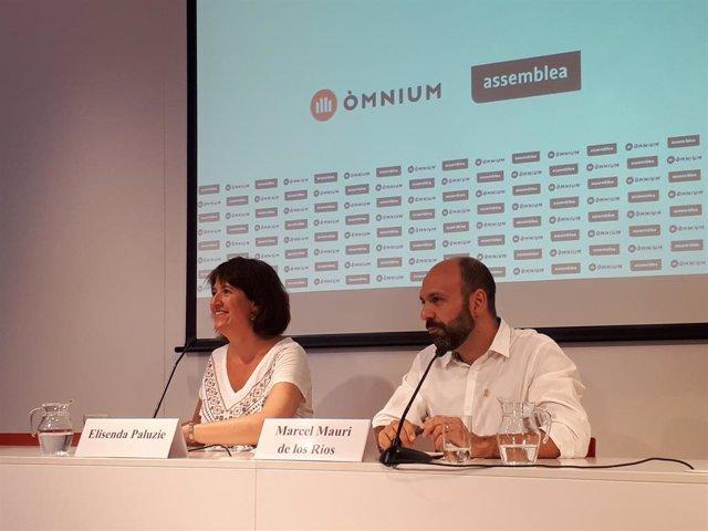 Elisenda Paluzie (ANC) y  Marcel Mauri (Òmnium)