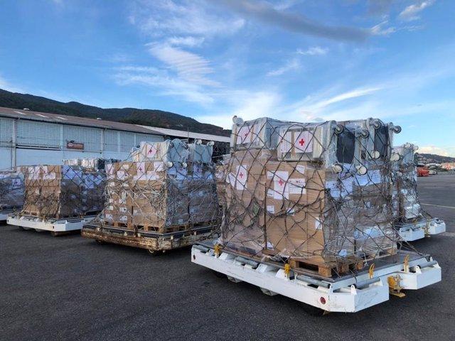 Ayuda de la Cruz Roja enviada a Venezuela