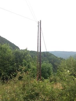 Línia elèctrica d'Endesa al Pont de Suert (Lleida)