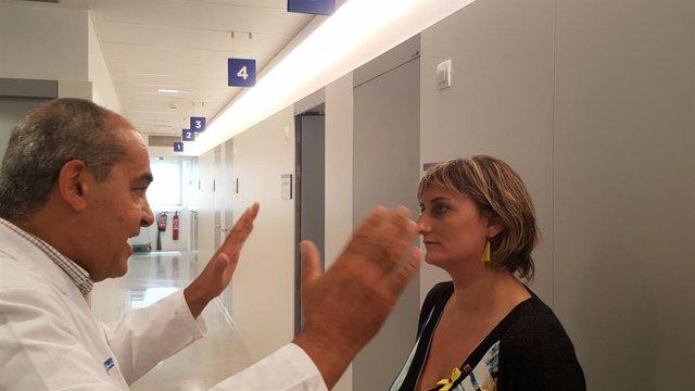 La consellera Alba Vergés en la seva visita a les noves instal·lacions del Centri Drassanes-Vall d'Hebron
