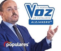 Imagen de la campaña del PP catalán 'Alejandro, tu nueva voz en Catalunya'