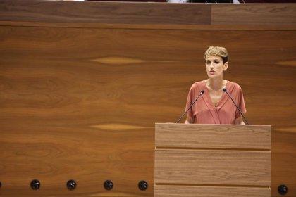 """María Chivite defiende los """"acuerdos entre diferentes"""" y pide que """"la pluralidad no se utilice como arma arrojadiza"""""""