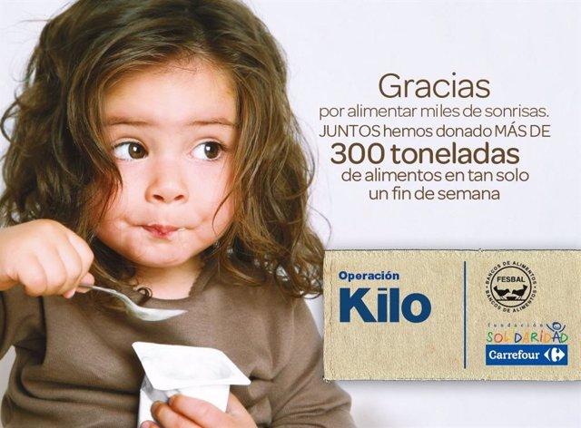 Imagen de la campaña 'Operación Kilo Supermercados'