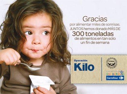 Carrefour.- 'Operación Kilo Supermercados' entrega en un fin de semana más de 300 toneladas de alimentos a personas desfavorecidas