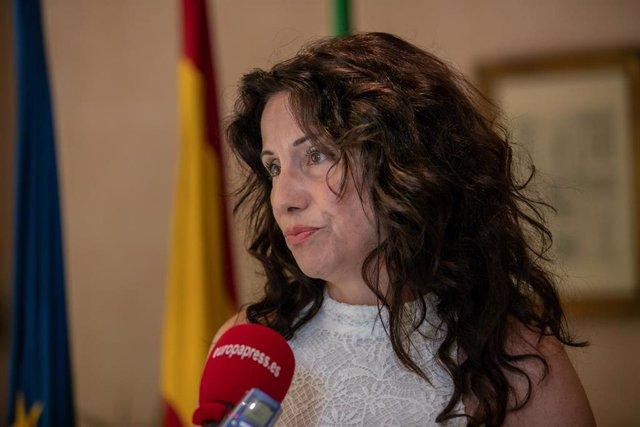 La consejera de Igualdad, Políticas Sociales y Conciliación, Rocío Ruiz, durante una entrevista con Europa Press.