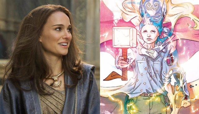 Imagen de Natalie Portman como Jane Foster, que será The Mighty Thor en Thor: Love and Thunder