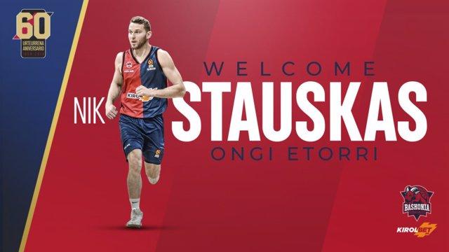 Nik Staukas ficha por el Kirolbet Baskonia