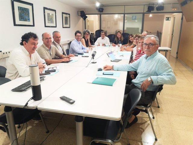 José Lladó Iglesias, juntament a altres membres del Patronat de la Fundació de l'Institut d'Investigació Sanitria de Balears.