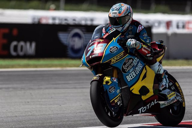 Alex Márquez durante el Gran Premio de Catalunya 2019