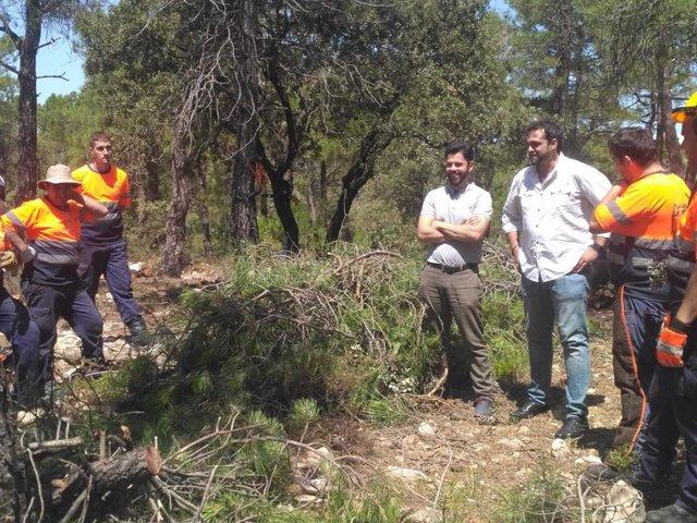 Alumnos del taller de empleo de Calatayud realiza tareas para la prevención de incendios forestales.