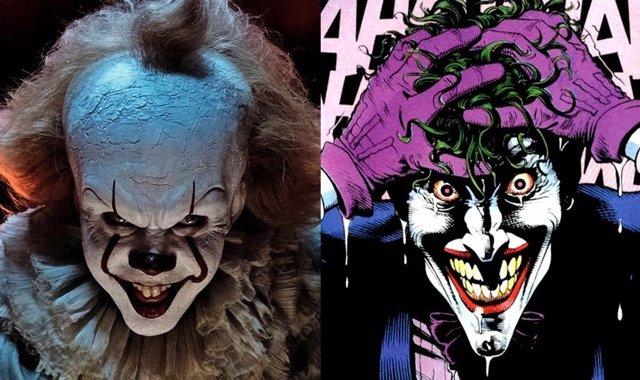 Pennywise en It y el Joker en La broma asesina