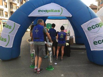 Ecopilas prevé superar las 2 toneladas de pilas recicladas durante la Vuelta  a España y el Descenso del Sella