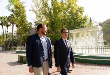 """Ayuntamiento de Murcia destina más de un millón de euros a darle al agua un """"lugar central"""" en los jardines"""