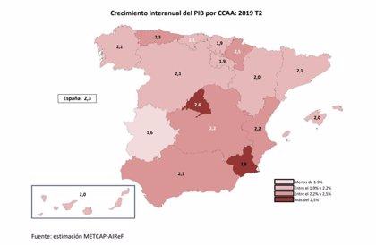 Andalucía crece un 0,4% en el segundo trimestre, una décima por debajo de la media nacional, según la AIReF