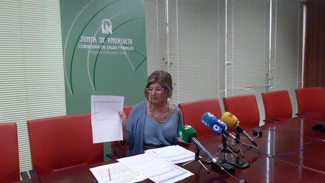 Isabel Paredes en la rueda de prensa