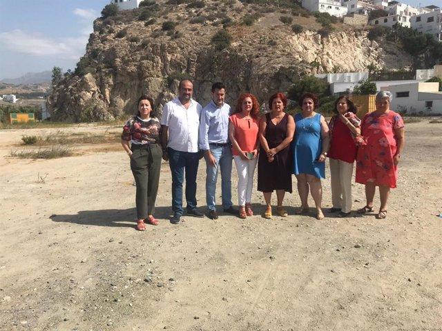 Visita del PSOE a Salobreña